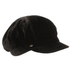Betmar Velvet Newsboy Cap (For Women)