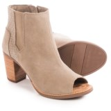 TOMS Majorca Peep Toe Ankle Boots - Suede (For Women)