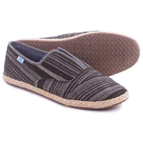 TOMS Palmera Metallic-Stripe Shoes - Slip-Ons (For Women)