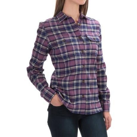 Tall Pines by Woolrich Heavyweight Flannel Shirt - Long Sleeve (For Women)