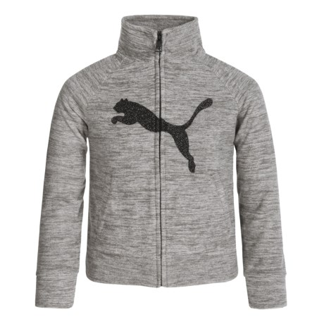 Puma Space-Dye Sweatshirt - Full Zip (For Big Girls)