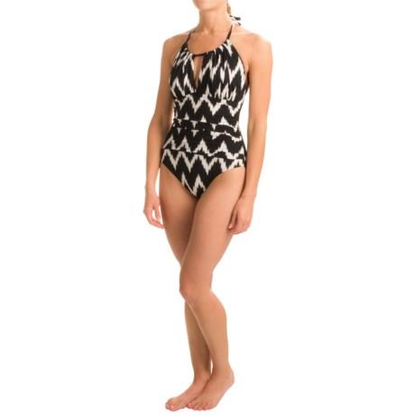 La Blanca Night Waves Hi-Neck Halter Mio Swimsuit - Removable Cups (For Women)