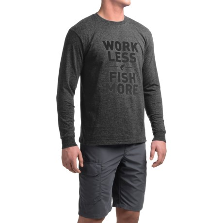Simms Work Less Fish More T-Shirt - Long Sleeve (For Men)