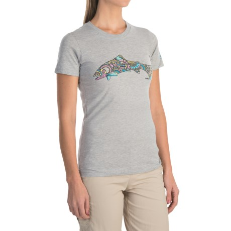 Simms Larko Trout T-Shirt - Short Sleeve (For Women)