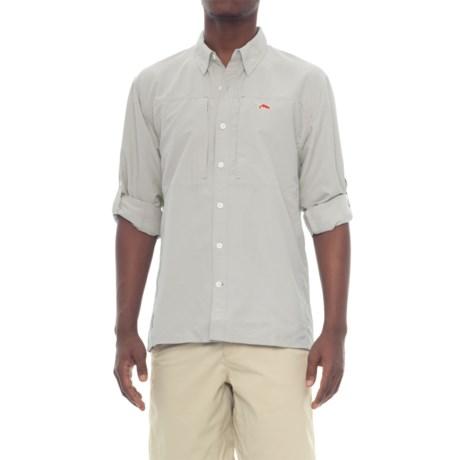 Simms BugStopper Solid Shirt - UPF 50+, Long Sleeve (For Men)