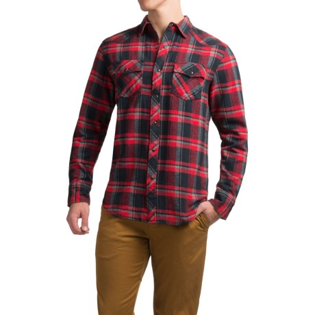 JKL Washed-Cotton Flannel Shirt - Long Sleeve (For Men)