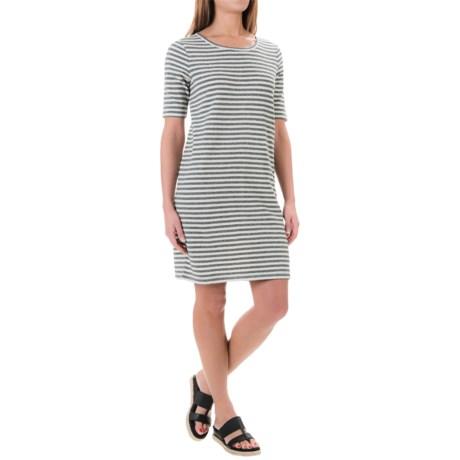 Paraphrase Jersey Stripe Shirt Dress - Cotton, Short Sleeve (For Women)