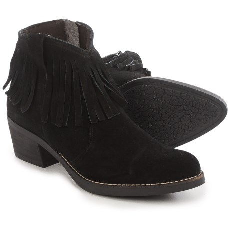 Eric Michael Beth Fringed Ankle Boots - Suede (For Women)