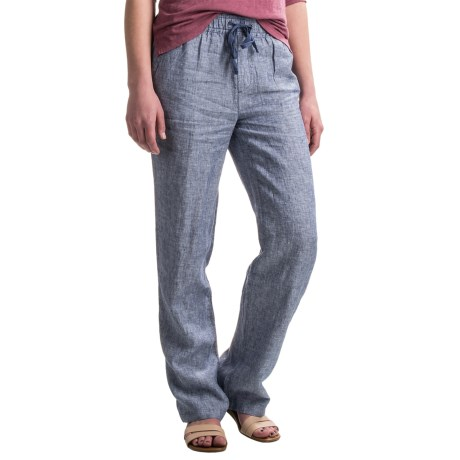 Kenar Linen Cross-Dye Twill Pants (For Women)