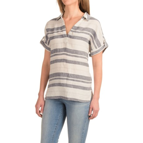Artisan NY Linen Tunic Shirt - Roll-Tab Short Sleeve (For Women)