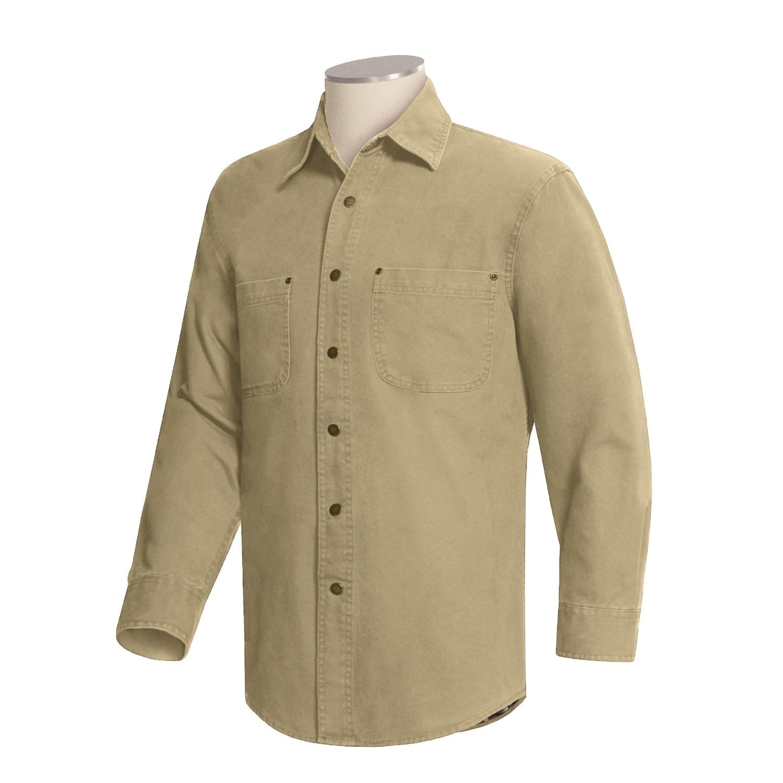 Wolverine Flannel Lined Shirt Jacket For Men 17507