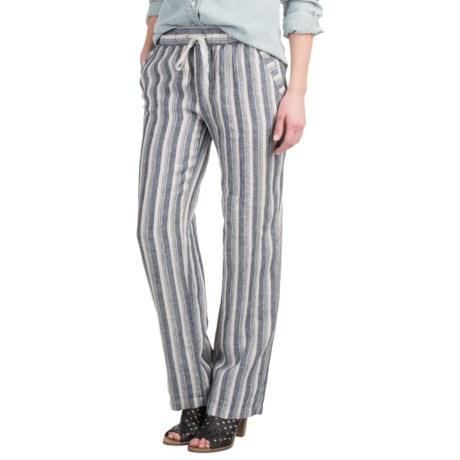 Artisan NY Striped Drawstring Pants (For Women)