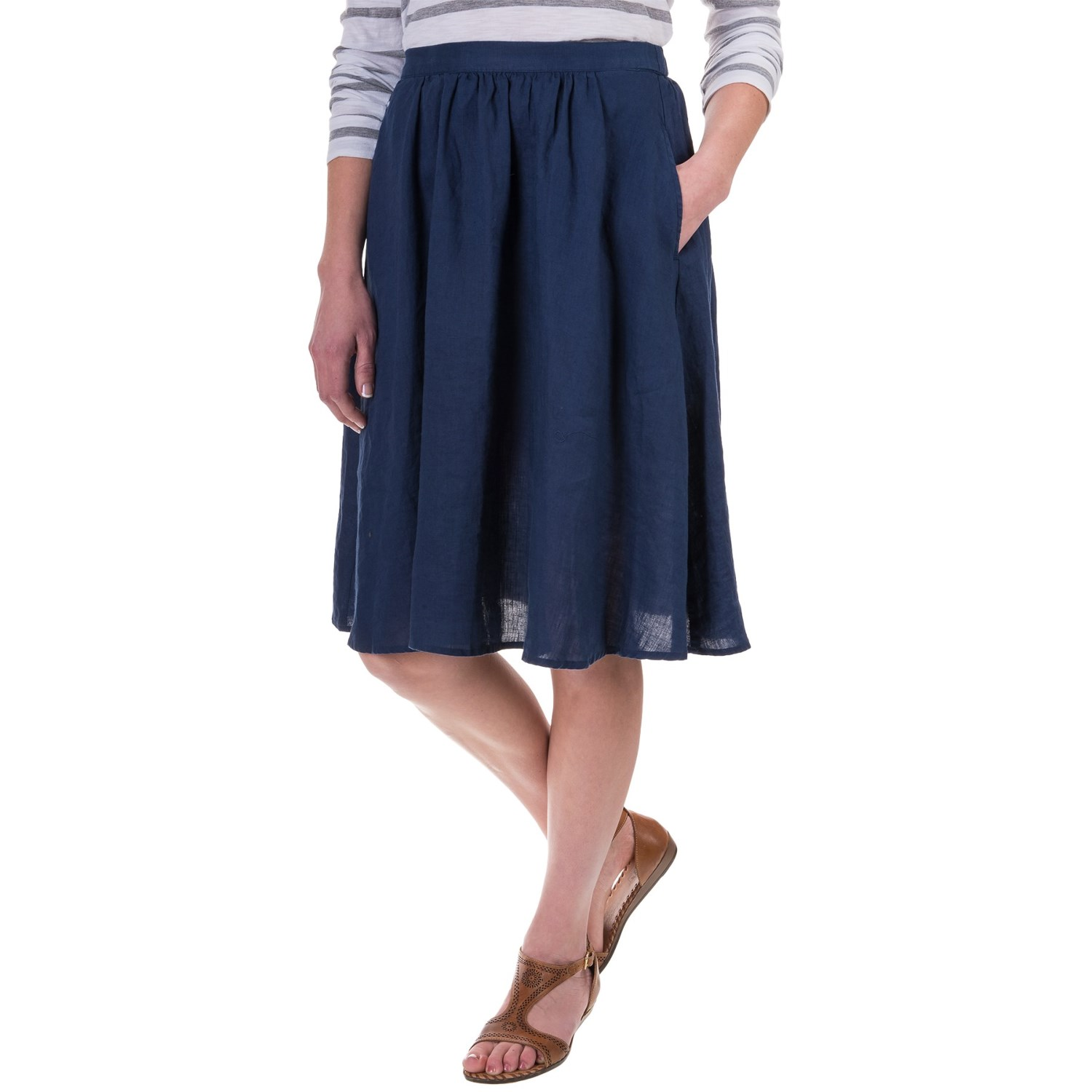 St. Tropez West Linen A-Line Skirt (For Women) 175AC - Save 51%
