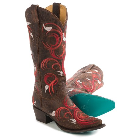 "Lane Jerri Ann Cowboy Boots - Leather, Snip Toe, 13"" (For Women)"