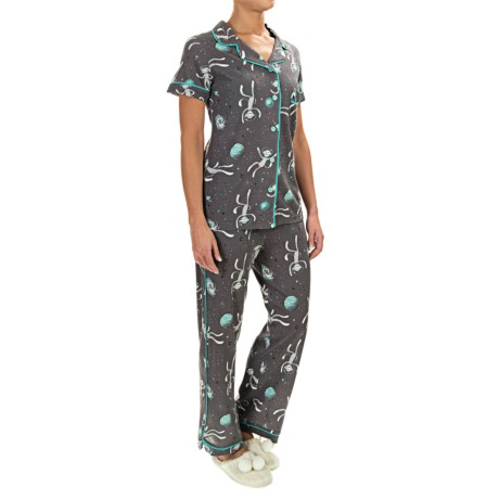Munki Munki Classic Jersey Pajamas - Short Sleeve (For Women)