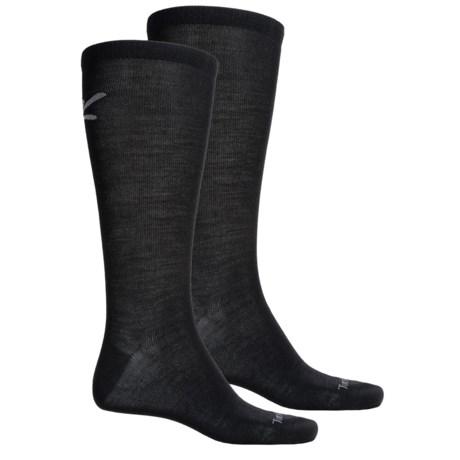 Terramar Thermawool Sock Liner - 2-Pack, Merino Wool, Over the Calf (For Men and Women)