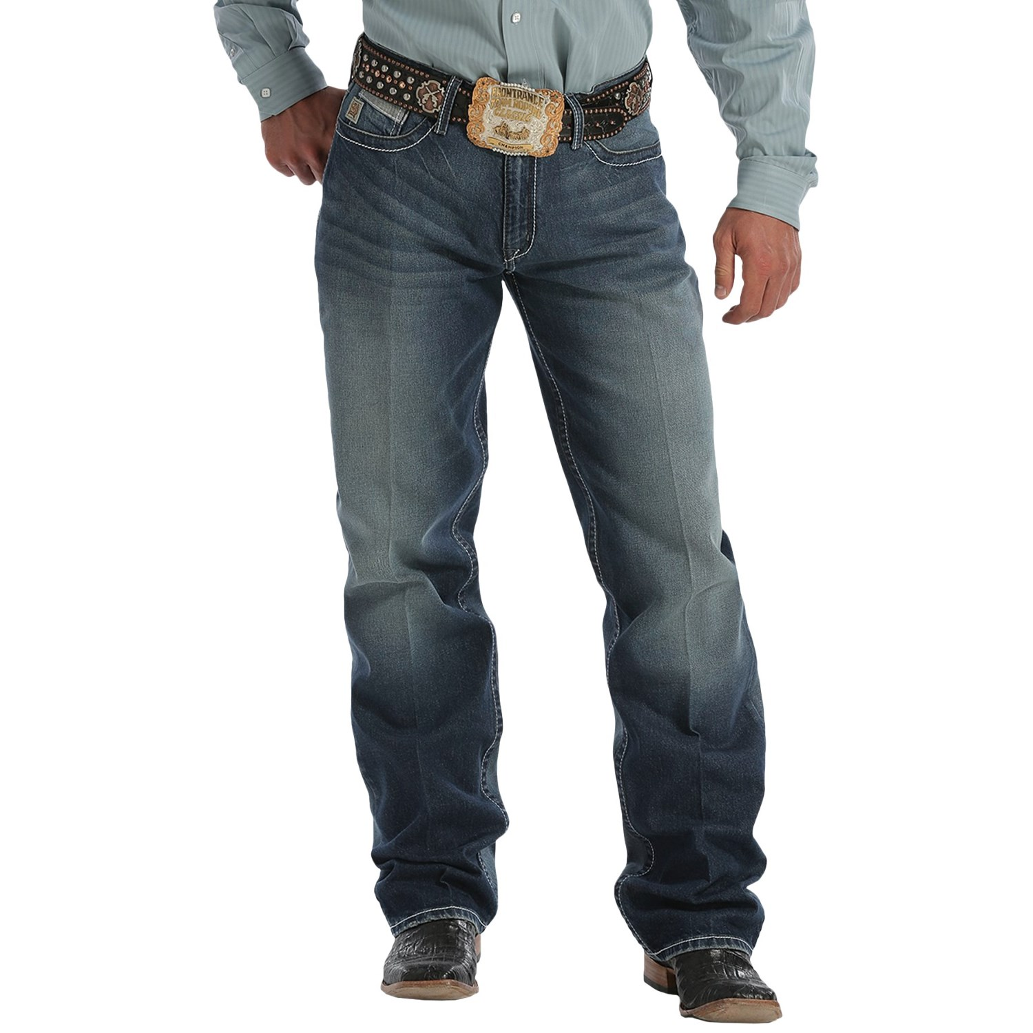 Game on closeouts sporting goods - Cinch Grant High Performance Jeans Relaxed Fit Bootcut For Men In