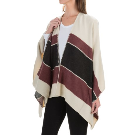 Sanctuary Striped Poncho - Open Front (For Women)