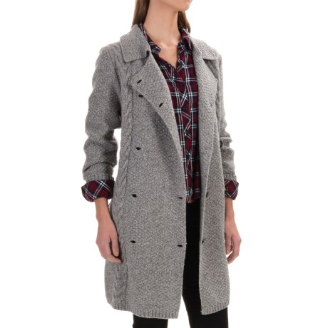 Pendleton Double-Breasted Cardigan Sweater - Lambswool (For Women)