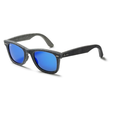 Sunglasses With Mirrored Lenses  ray ban original wayfarer denim rb2140 sunglasses mirror lenses