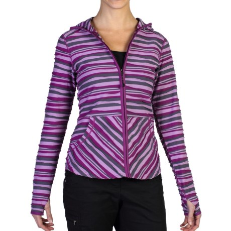 ExOfficio Techspressa Striped Hooded Shirt - UPF 15+, Long Sleeve (For Women)