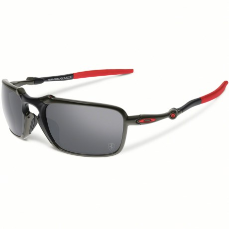 Oakley Badman Scuderia Ferrari Sunglasses - Polarized Iridium® Lenses