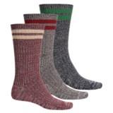 Muk Luks Microfiber Socks - 3-Pack, Crew (For Men)