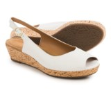 Clarks Orlena Currant Wedge Sandals - Leather (For Women)