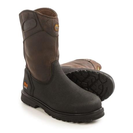 Timberland Pro Series Powerwelt Wellington Work Boots - Leather, Steel Toe (For Men)