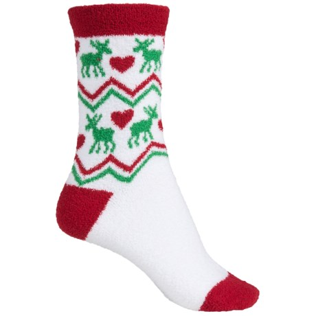 Apara Holiday Nordic Sunset Socks - Crew (For Women)