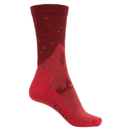 Woolrich Fox Socks - Merino Wool, Crew (For Women)