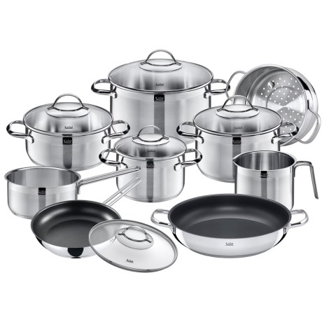 Silit Achat Stainless Steel Cookware Set - 14-Piece