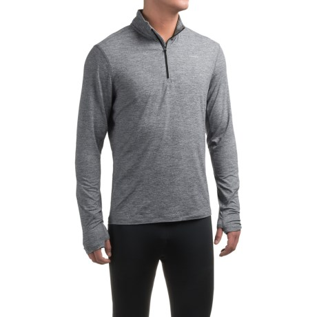 Hind Chunky Heather Shirt - Zip Neck, Long Sleeve (For Men)