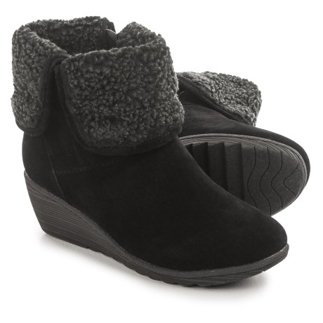 Serene Luuk Wedge Ankle Boots - Vegan Leather (For Women)