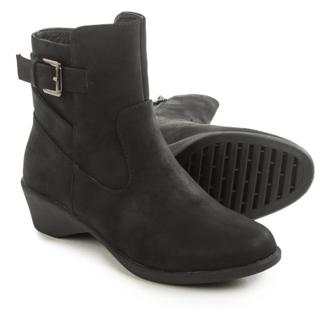 Serene Cashew Ankle Boots - Vegan Leather (For Women)
