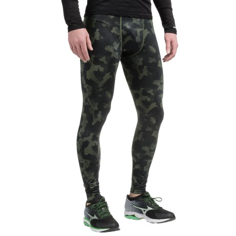 AL1VE Printed Base Layer Tights (For Men)
