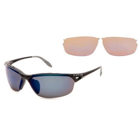 Native Eyewear Vigor Sunglasses - Polarized Reflex Lenses, Extra Lenses