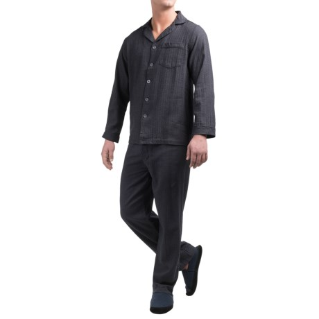 Majestic Cotton Flannel Pajamas - Long Sleeve (For Men)