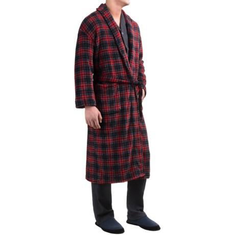 Majestic Plush Shawl Collar Robe - Long Sleeve (For Men)