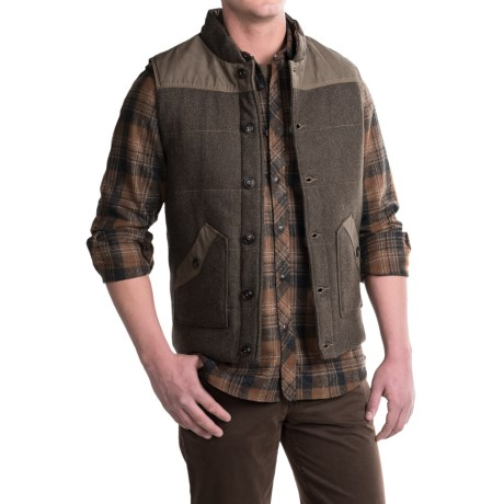 Jeremiah Belmont Waxed-Canvas Vest - Insulated (For Men)