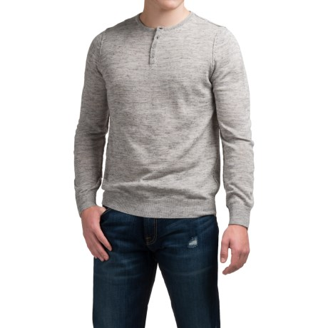 Toscano Henley Sweater - Linen Blend (For Men)