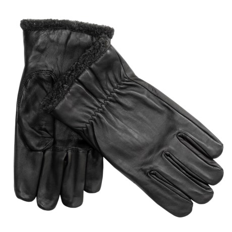 Cire by Grandoe Aviator Sheepskin Gloves - Fleece Lined (For Men)