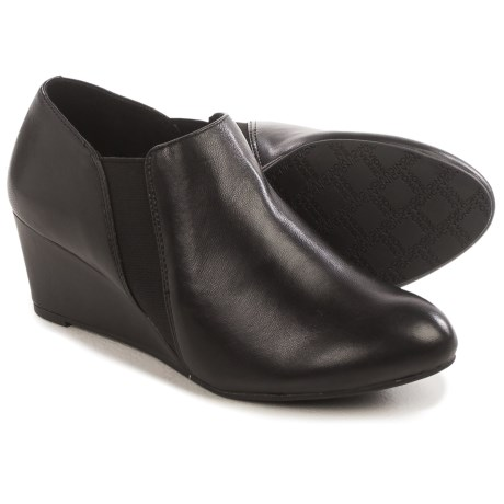 Vionic with Orthaheel Technology Stanton Ankle Boots - Leather, Wedge Heel (For Women)