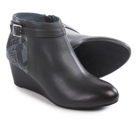 Vionic with Orthaheel Technology Shasta Ankle Boots - Leather, Wedge Heel (For Women)