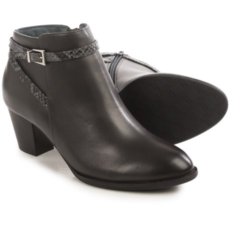 Vionic with Orthaheel Technology Upton Ankle Boots - Leather (For Women)
