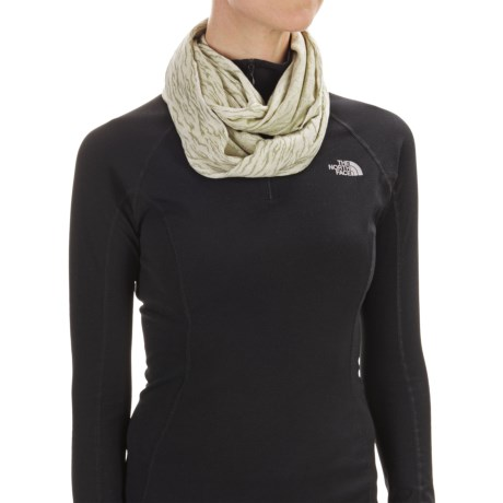 Buff Jacquard Infinity Scarf (For Women)