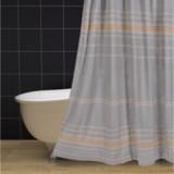 "Coyuchi Rippled Stripe Shower Curtain - 72x72"", Organic Cotton"