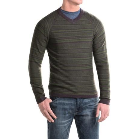 Royal Robbins Fireside Wool V-Neck Stripe Sweater (For Men)