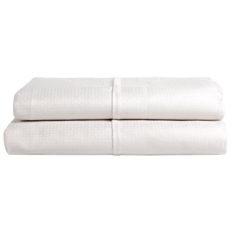 Barbara Barry Perfect Pindot Pillowcases - Full-Queen, 300 TC Cotton Sateen, Set of 2