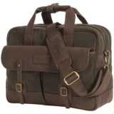 Barbour Mizzen Briefcase - Waxed Cotton